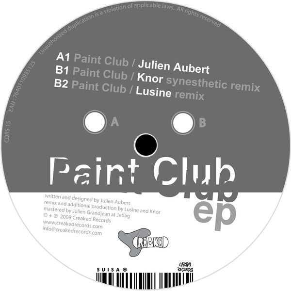 Julien Aubert-Paint Club EP/12 remix of